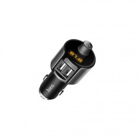 Bluetooth FM Transmitter Hoco E19 Smart με 2 USB Θύρες Γκρι