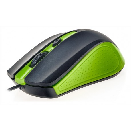 R-HORSE Optical Mouse USB Wired Green/Black