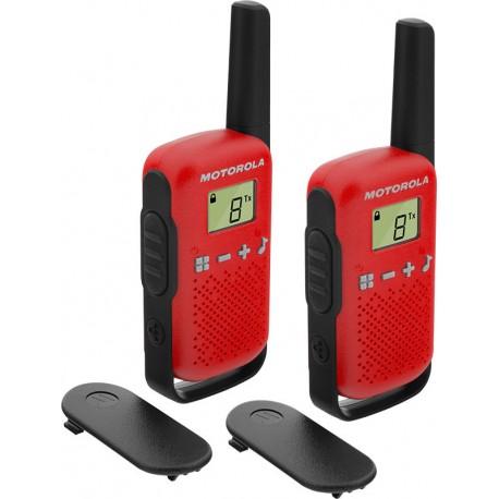 Walkie Talkie Motorola Talkabout T42 Twin-Pack Red