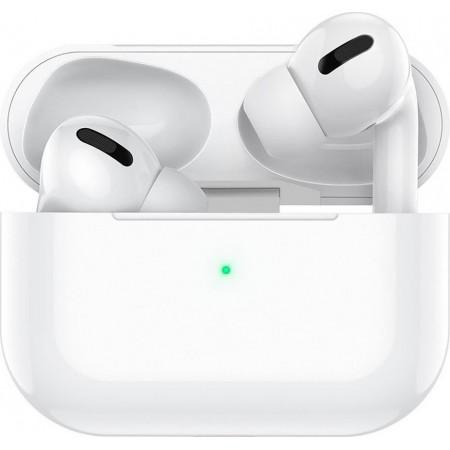 True Wireless Bluetooth Hoco ES36 Original Series για Apple Generation 3 DC 5V v.5.0 Λευκά με Ασύρματη Φόρτιση
