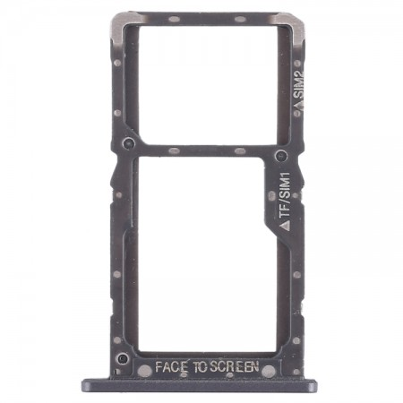 Υποδοχή κάρτας Sim και Micro SD για Xiaomi Pocophone F1 (Μαύρο)