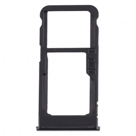 Υποδοχή Κάρτας Dual SIM και SD Tray για Nokia 5.1 Plus - Χρώμα: Μαύρο