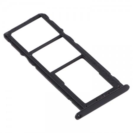 Υποδοχή Κάρτας Sim Και Micro SD Για Huawei Y6 (2019) (Black)