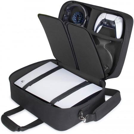 Τσάντα Μεταφοράς Playstation 5 Με Θέσεις Για Controller-Games-Headset-Accessories (USA GEAR PS5 43210000) Black