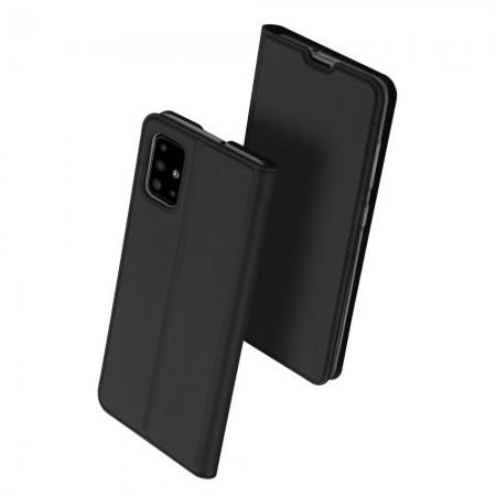 Θήκη Samsung Galaxy A71 Book Μαύρη - DuxDucis Skin Pro