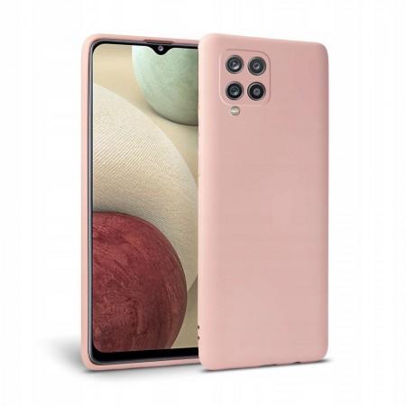 Θήκη Samsung Galaxy A12 Back Cover Σιλικόνης Ροζ- Tech Protect