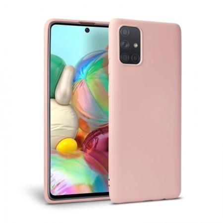 Θήκη Samsung Galaxy A71 Back Cover Σιλικόνης Ροζ - Tech Protect