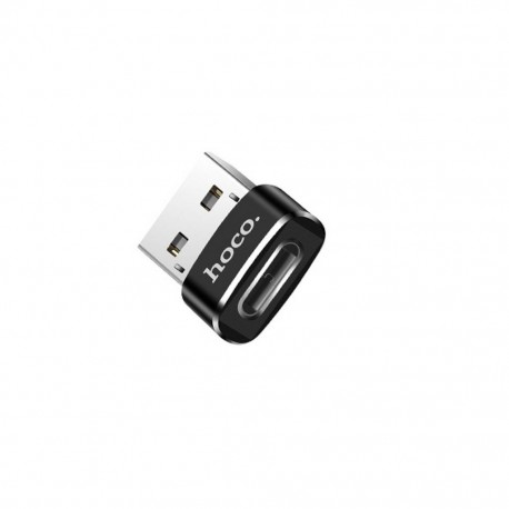 Αντάπτορας Hoco UA6 USB σε USB-C Μαύρο