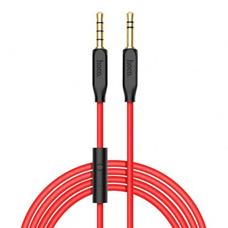 Hoco Cable 3.5mm male - 3.5mm male Κόκκινο 1m (UPA12)