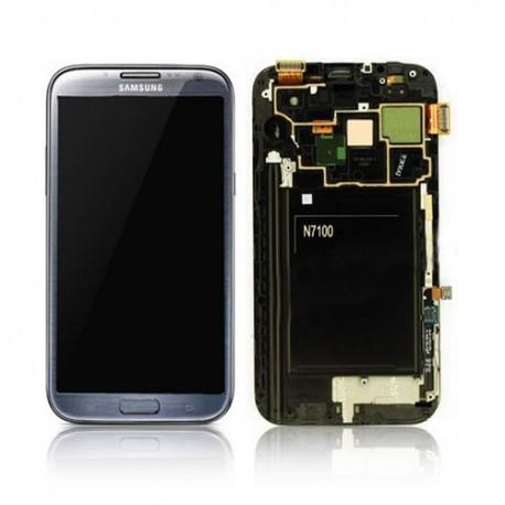 N7100 Γνήσια οθόνη και touch Samsung Galaxy Note 2 Γκρί,GH97-14112B