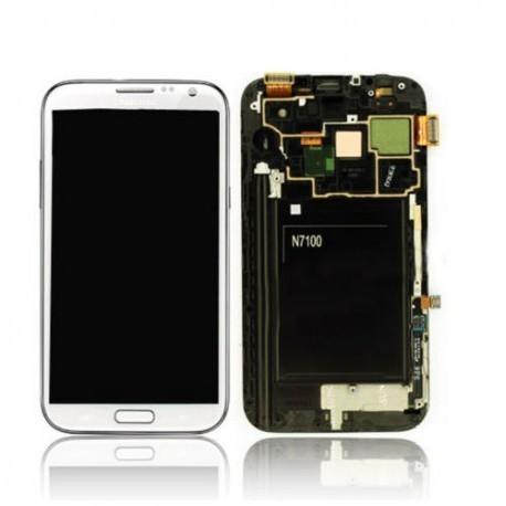 N7105 Γνήσια οθόνη και touch Samsung Galaxy Note 2 LTE Άσπρο,GH97-14114A