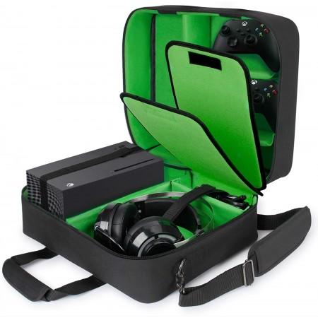 Τσάντα Μεταφοράς Xbox Series X / Series S  Με Θέσεις Για Controller-Games-Headset-Accessories (USA GEAR Xbox 43222600) Green
