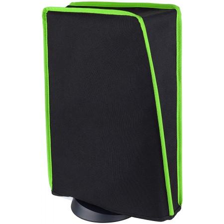 Προστατευτικό Κάλυμμα Σκόνης Για Playstation 5 Disk & Digital Edition (Μαύρo-Πράσινο) - PlayVital 43000000