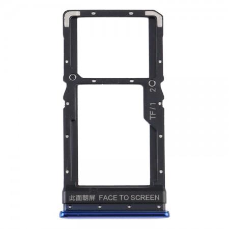 Υποδοχή κάρτας Sim και Micro SD για  Xiaomi Poco X3 / Poco X3 NFC (Blue)