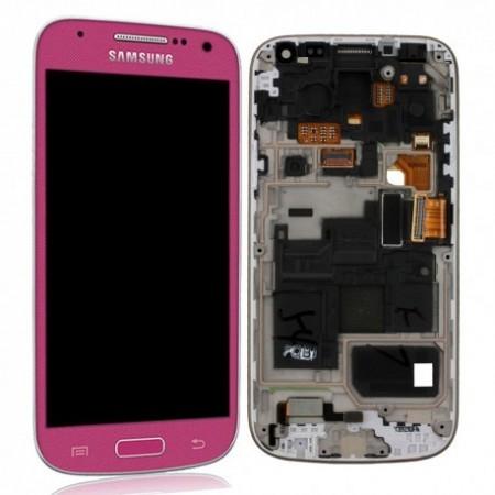 i9195 Γνήσια οθόνη και touch Samsung Galaxy S4 Mini Ροζ,GH97-14766G