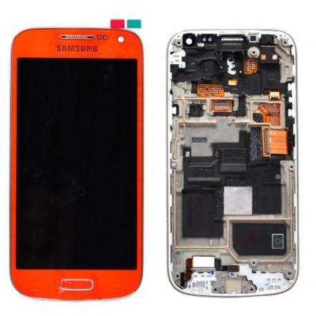 i9195 Γνήσια οθόνη και touch Samsung Galaxy S4 mini Πορτοκαλί,GH97-14766H